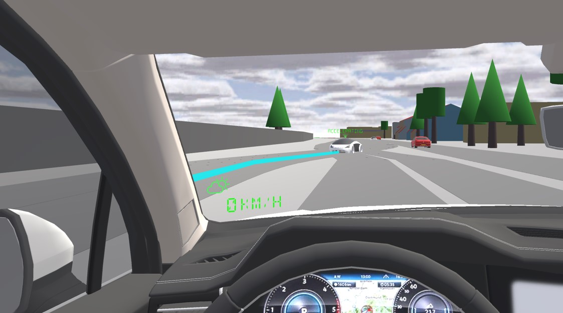 Screenshot showing an AR windshield