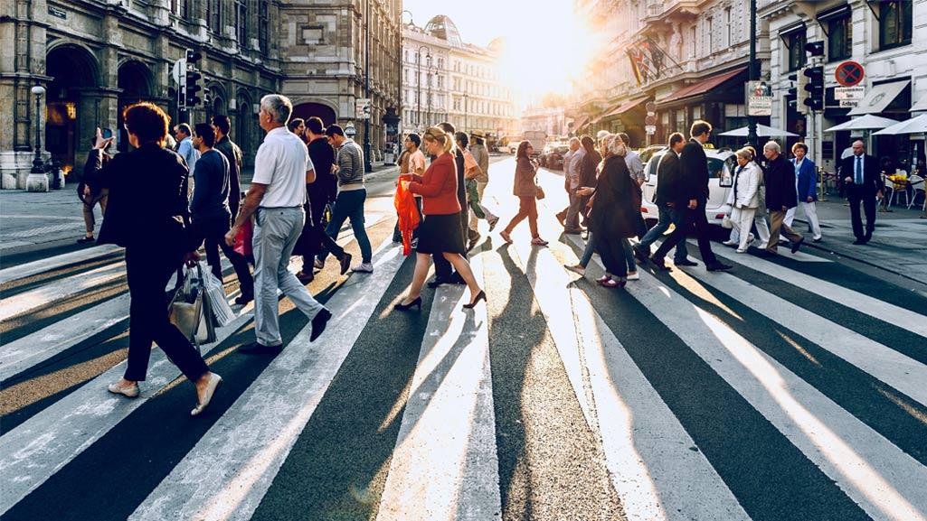 Fußverkehr in der Stadt