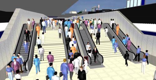 PTV Viswalk simulation of airport