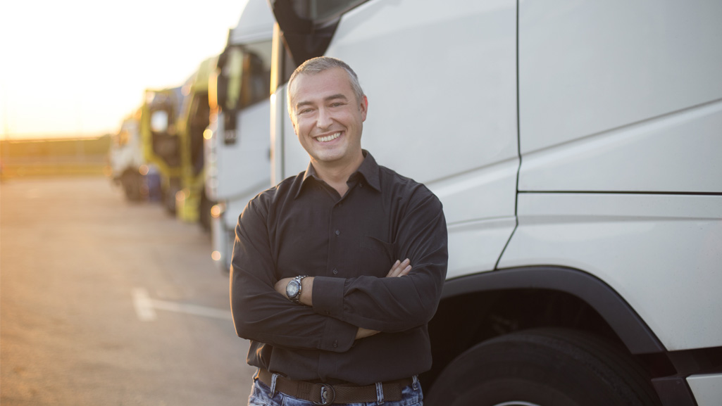 Satisfied Truck driver