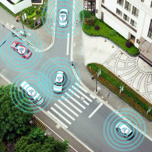 Vernetzte Fahrzeuge in der Stadt