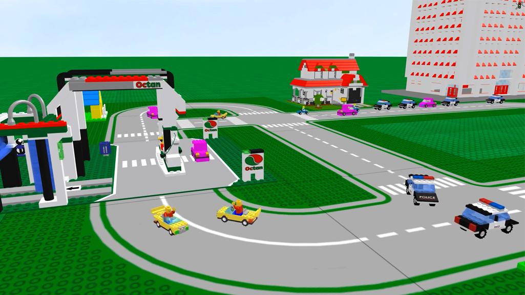 Lego simulation PTV Vissim