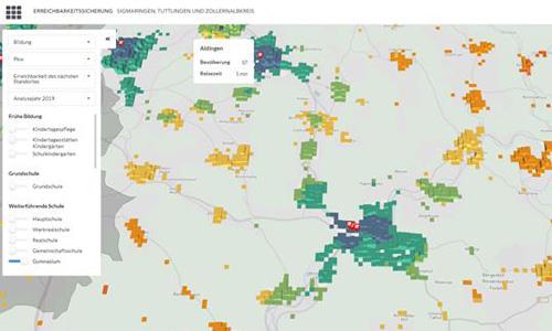 Webtool zeigt Erreichbarkeit im ländlichen Raum