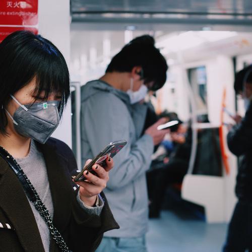 personne dans le métro