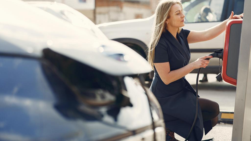 Women EV charger